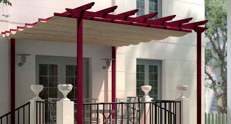 Toldos toldos y persianas en monterrey for Rieles para toldos de techo